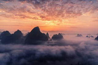 Li River Sunrise, Mt. Xianggongshan