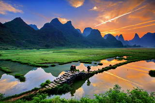 Sunrise at Tianxin Village