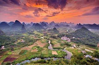 Cuiping Sunset, Yangshuo