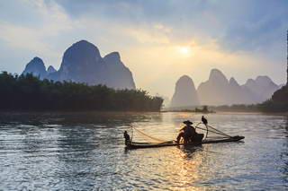 Li River Fisherman Model