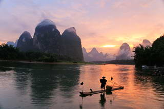 Li river sunset, Xingping