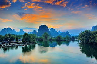 Yangshuo Sunset photo