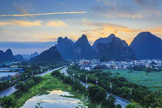 Guilin Dudushan sunset