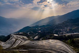 Longji sunset, Pingan